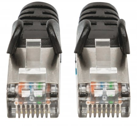 Cat6a S/FTP Patch Cable, 14 ft., Black