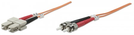 Fiber Optic Patch Cable, Duplex, Multimode - , ST/SC, 62.5/125 µm, OM1, 25 m (82 ft.), Orange