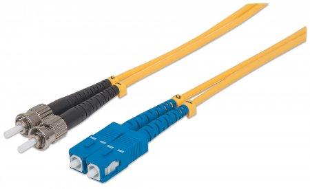 Fiber Optic Patch Cable, Duplex, Single-Mode - , ST/SC, 9/125 µm, OS2, 3 m (10 ft.), Yellow