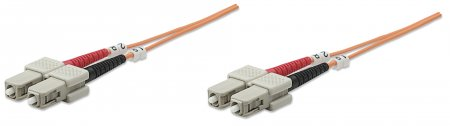 Fiber Optic Patch Cable, Duplex, Multimode - , SC/SC, 62.5/125 µm, OM1, 30 m (100 ft.), Orange