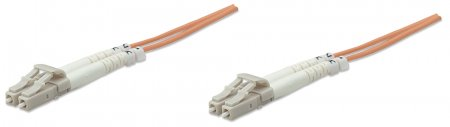 Fiber Optic Patch Cable, Duplex, Multimode - , LC/LC, 62.5/125 µm, OM1, 25 m (82 ft.), Orange