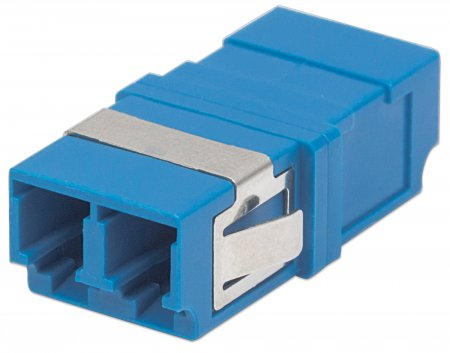 Single Mode Duplex LC Adapter - , LC Adapter, Single Mode Duplex, Zirconia Sleeve, Blue