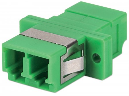 Single Mode Duplex LC/APC Adapter - , LC/APC Adapter, Single Mode Duplex, Zirconia Sleeve, Green