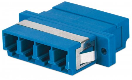 Single Mode 4-Core LC Adapter - , LC Adapter, Single Mode 4 Cores, Zirconia Sleeve, Blue