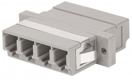 Multimode 4-Core LC Adapter - , LC Adapter, Multimode 4 Cores, Zirconia Sleeve, Beige
