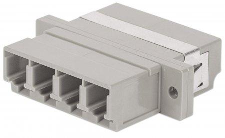 LC 4-Kern Multimode-Adapter INTELLINET Kunststoffgehäuse, beige