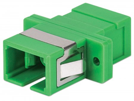 Single Mode Simplex SC/APC Adapter - , SC/APC Adapter, Single Mode Simplex, Zirconia Sleeve, Green