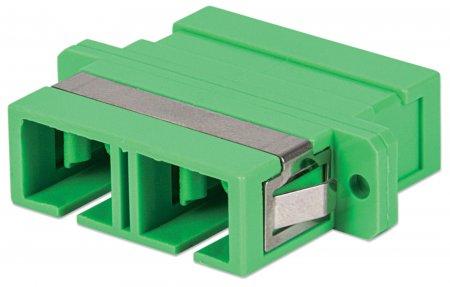 SC/APC Singlemode Duplex-Adapter INTELLINET Kunststoffgehäuse, grün