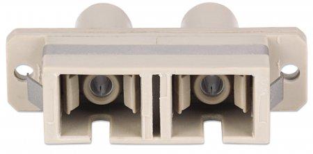 Hybrid SC-ST Multimode Duplex Adapter