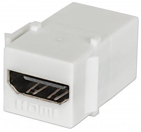 HDMI Inline Coupler, Keystone Type - , HDMI Female to HDMI Female, White