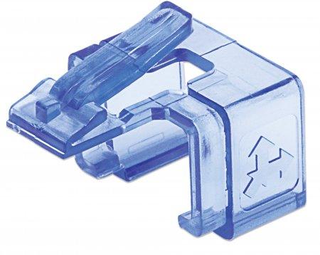 50er-Pack RJ45-Reparaturclips INTELLINET Zur Reparatur von RJ45-Modularsteckern, transparent blau, 50 Stück