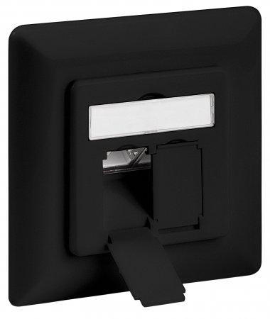 Cat6-Unterputzdose, geschirmt INTELLINET 2 Ports, FTP, schwarz