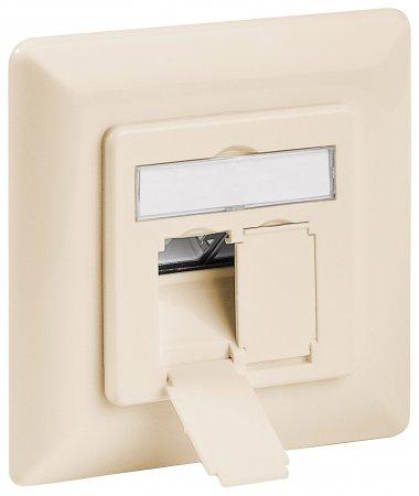 Cat6A-Unterputzdose, geschirmt INTELLINET 2 Ports, FTP, beige