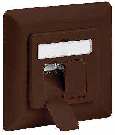 Cat6A-Unterputzdose, geschirmt INTELLINET 2 Ports, FTP, braun