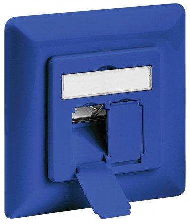 Cat6A-Unterputzdose, geschirmt INTELLINET 2 Ports, FTP, blau