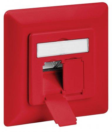 Cat6A-Unterputzdose, geschirmt INTELLINET 2 Ports, FTP, rot