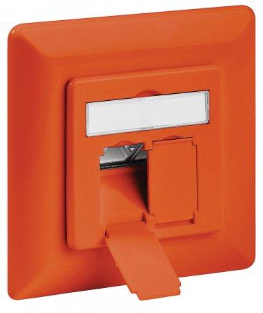 Cat6A-Unterputzdose, geschirmt INTELLINET 2 Ports, FTP, orange