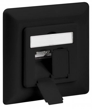 Cat6A-Unterputzdose, geschirmt INTELLINET 2 Ports, FTP, schwarz