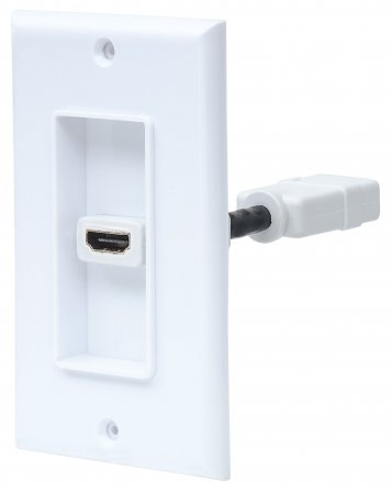 One-Port HDMI Wallplate - , HDMI Female to HDMI Female, Coupler Type, White