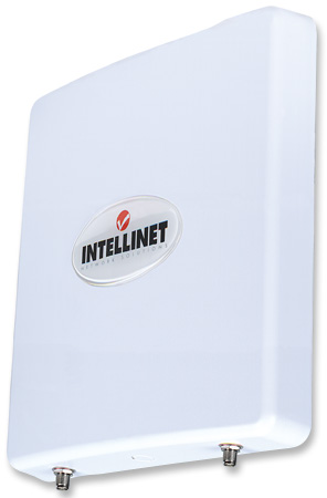 High-Gain MIMO Panel Directional Antenna - Intellinet Network Solutions High-Gain MIMO Panel Directional Antenna, 2T2R MIMO, 2.4 GHz, 12 dBi, IP65