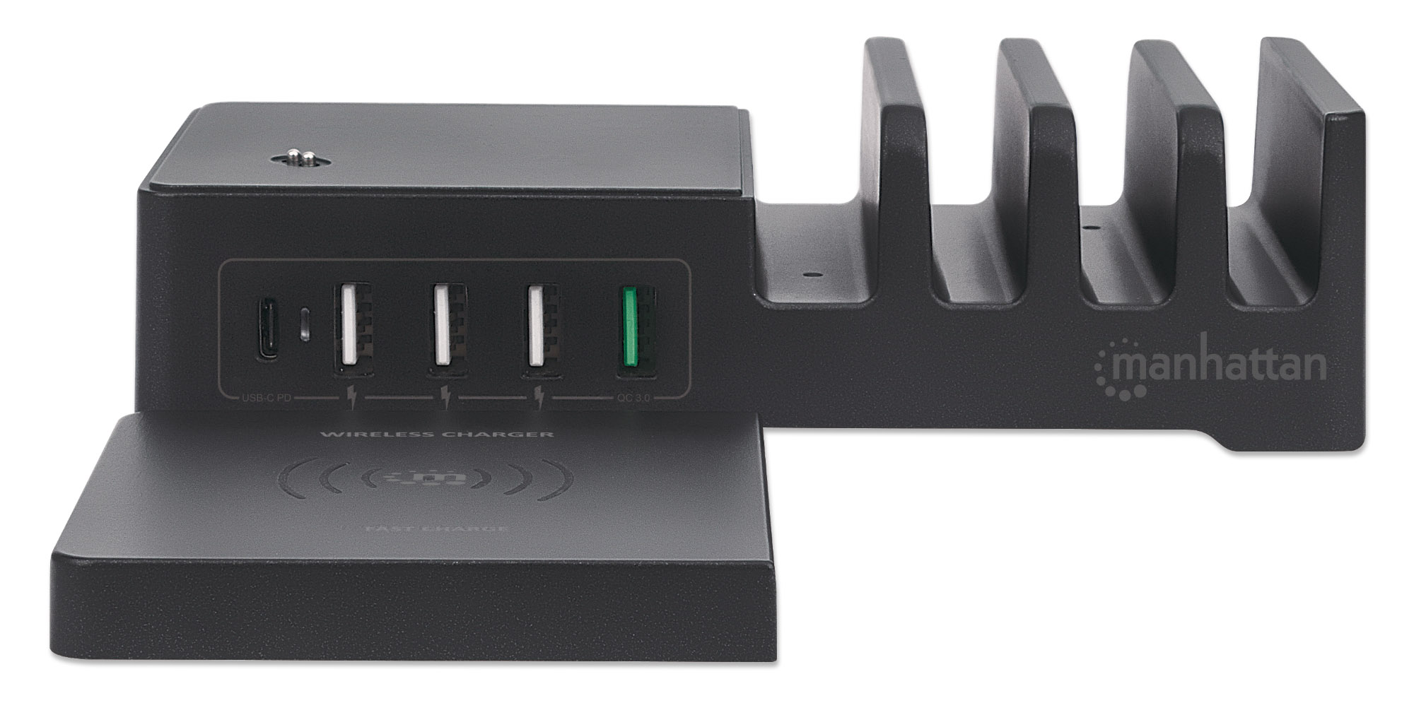 Power Delivery Charging Station with Wireless Charging Pad - 55 W