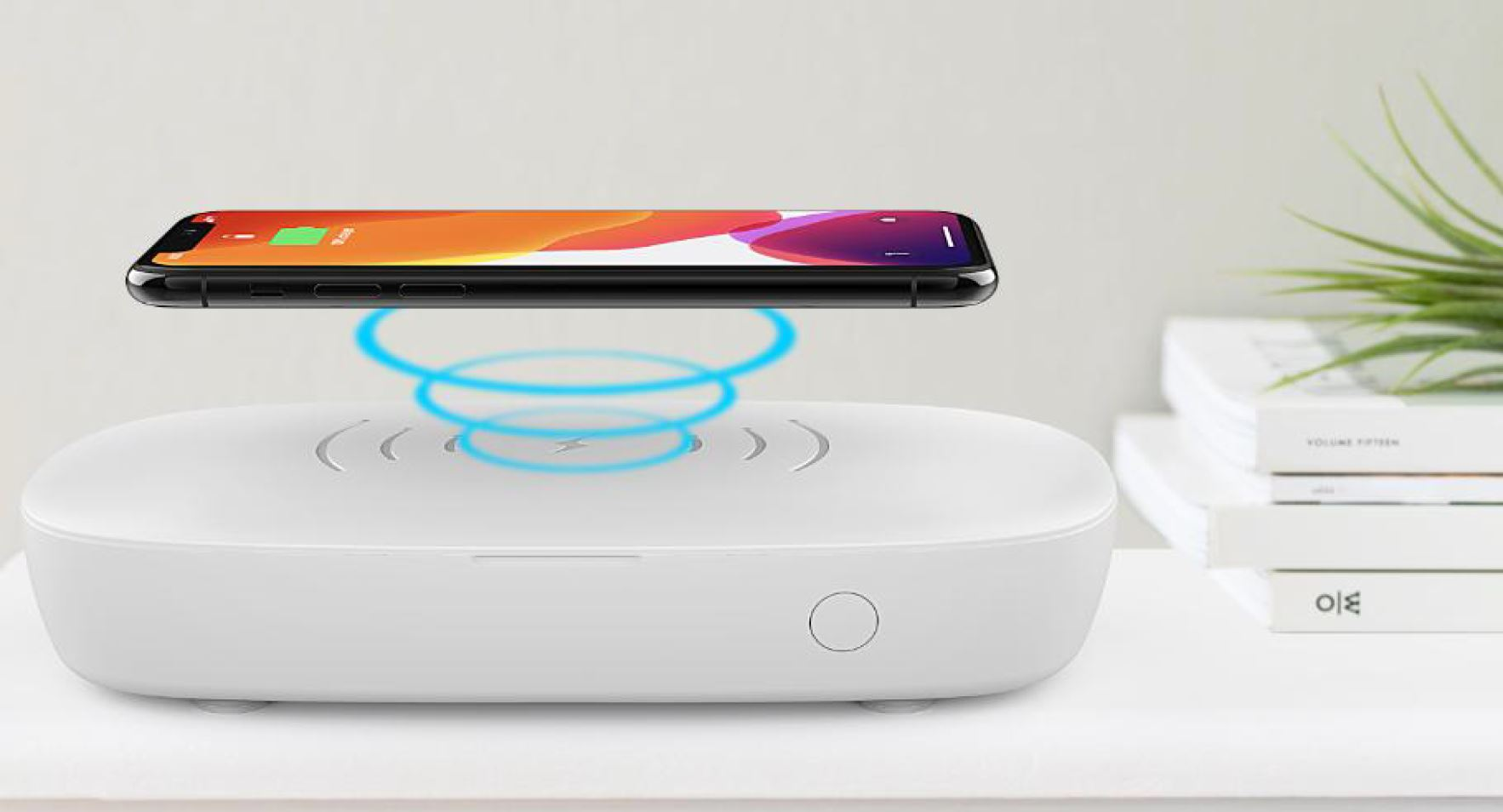 Phone Sanitizer with Qi Wireless Charger