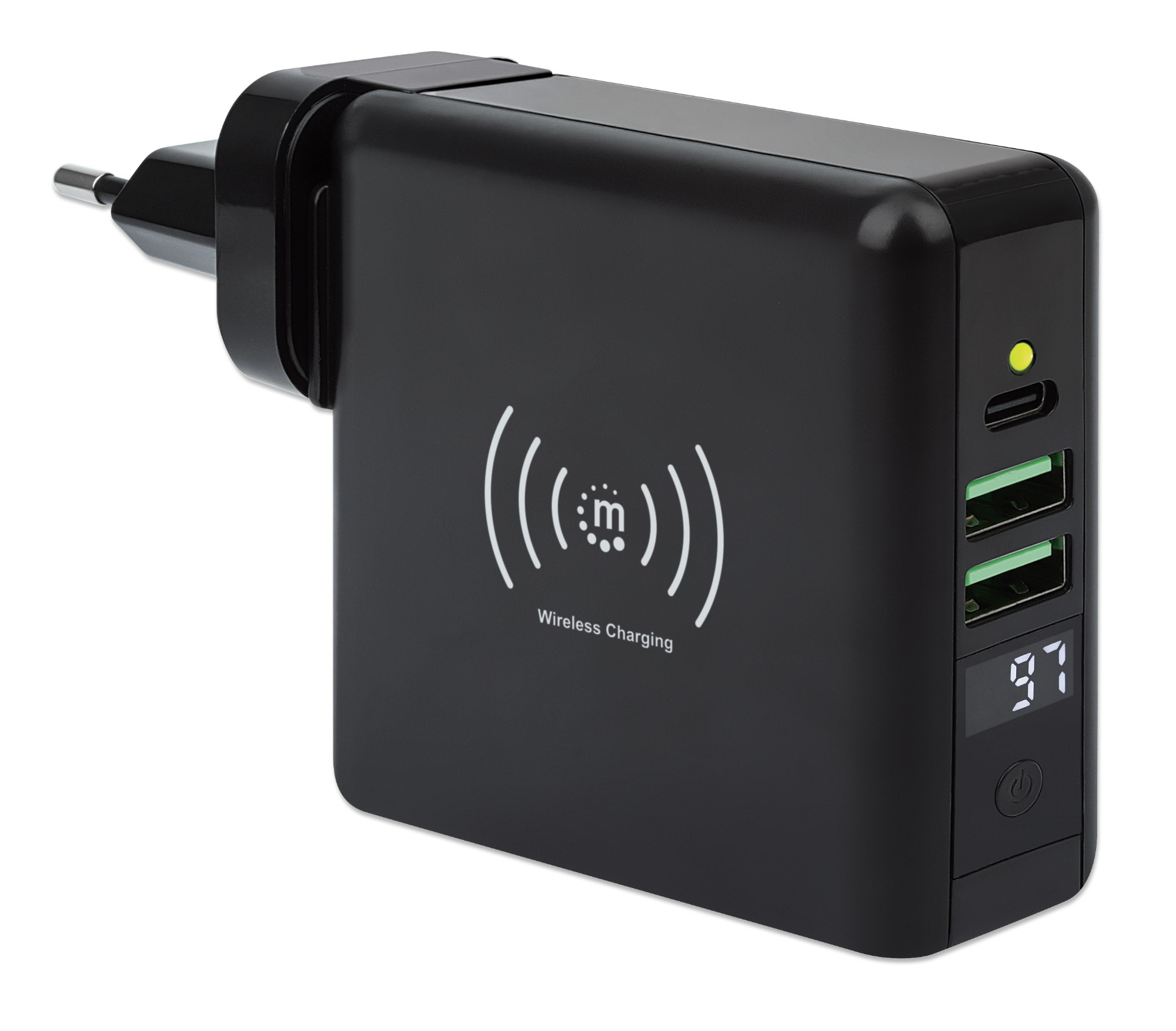 4-in-1 Travel Wall Charger and Powerbank 8,000 mAh