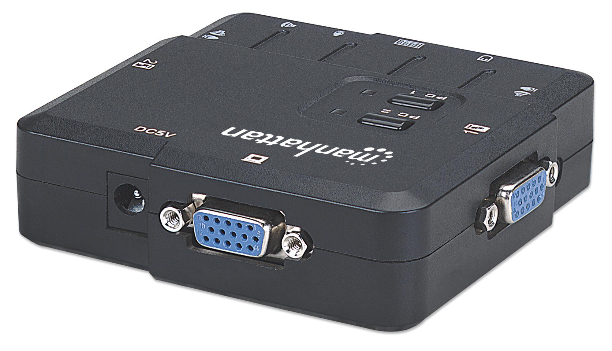 2-Port Compact KVM Switch