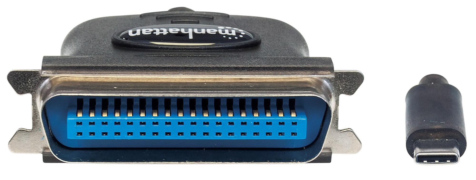 Full-Speed USB-C to Cen36 Parallel Printer Converter