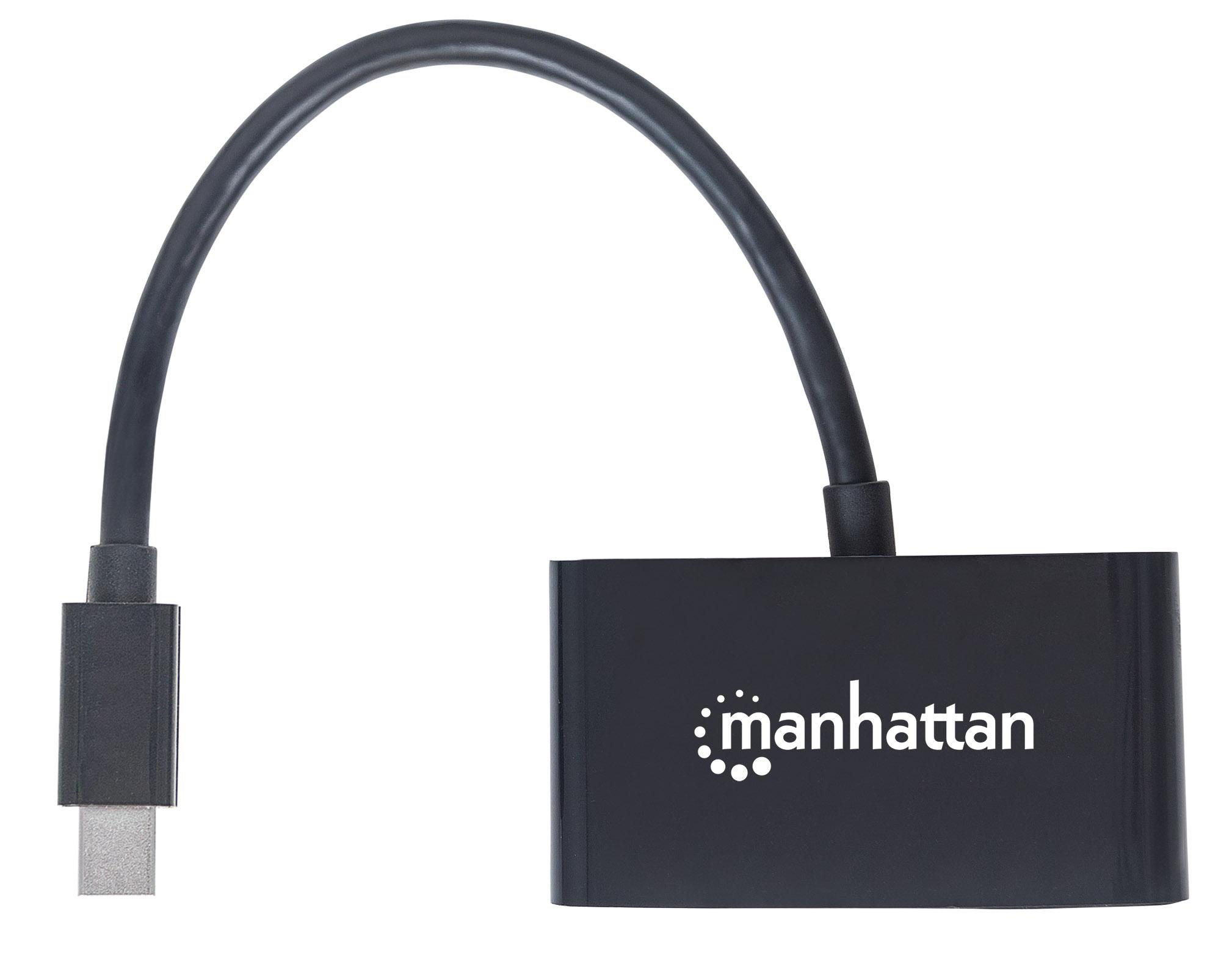 2-in-1 4K Mini DisplayPort Adapter