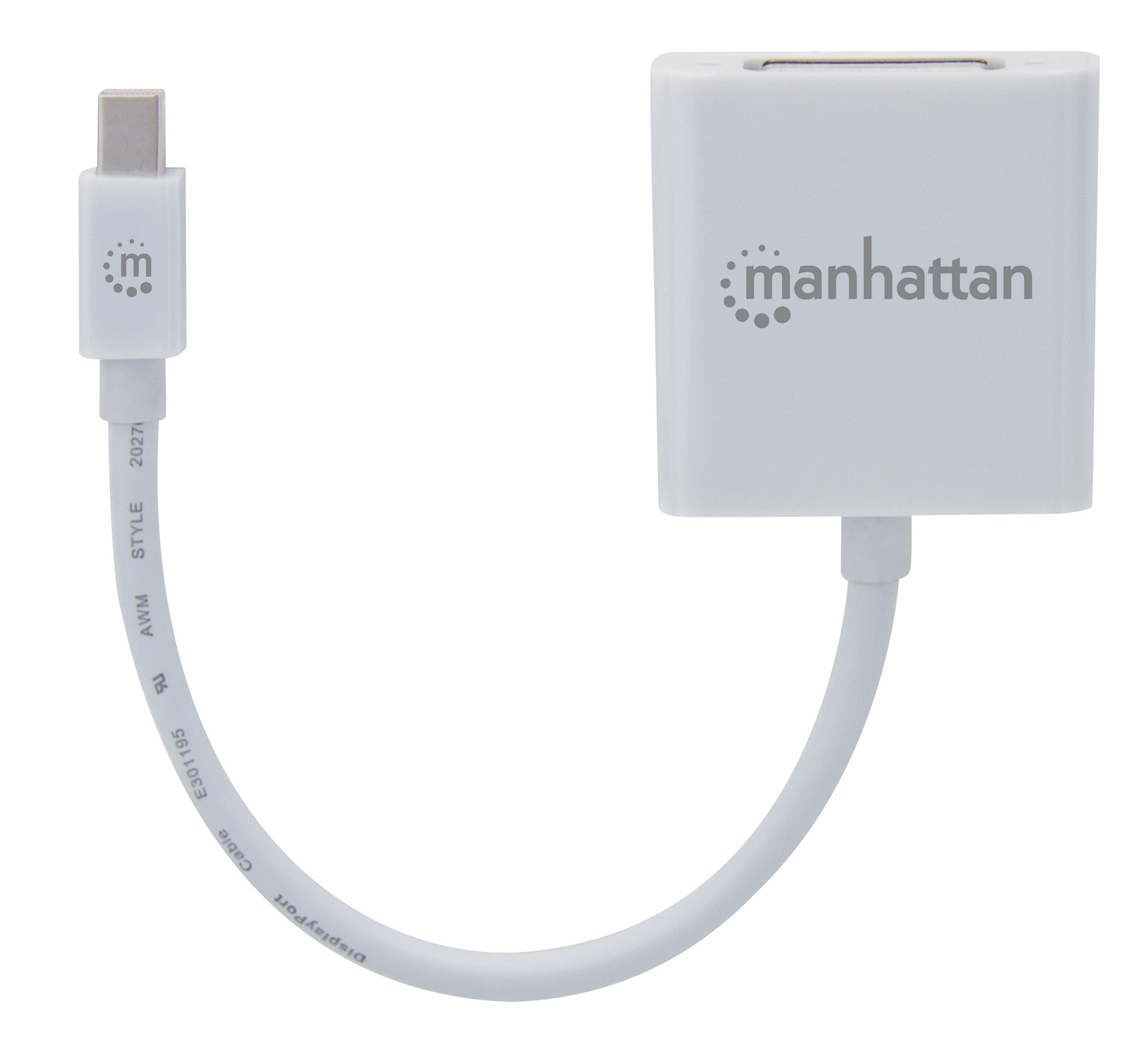 Passive Mini DisplayPort to DVI-I Adapter