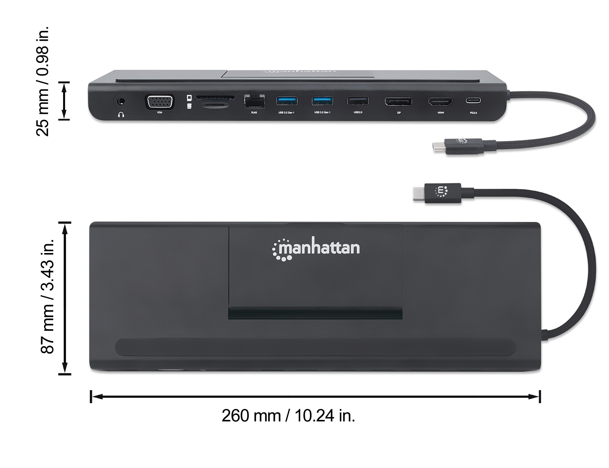 USB-C 11-in-1 Triple-Monitor Docking Station with MST