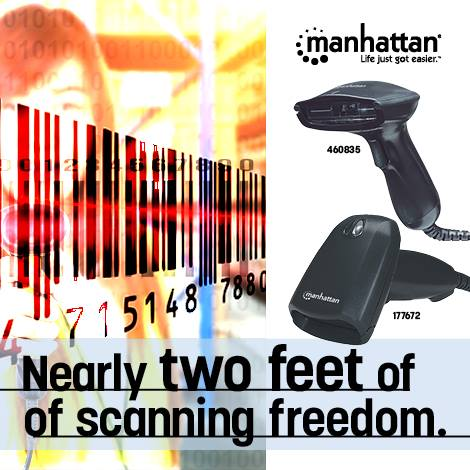 Long Range CCD Barcode Scanner