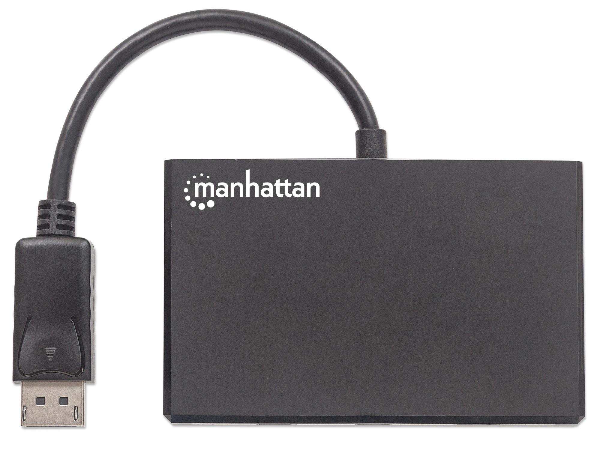 DisplayPort to 4-Port DisplayPort Splitter Hub with MST