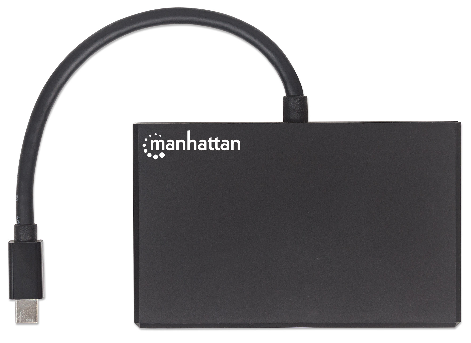 Mini DisplayPort to 4-Port DisplayPort Splitter Hub with MST