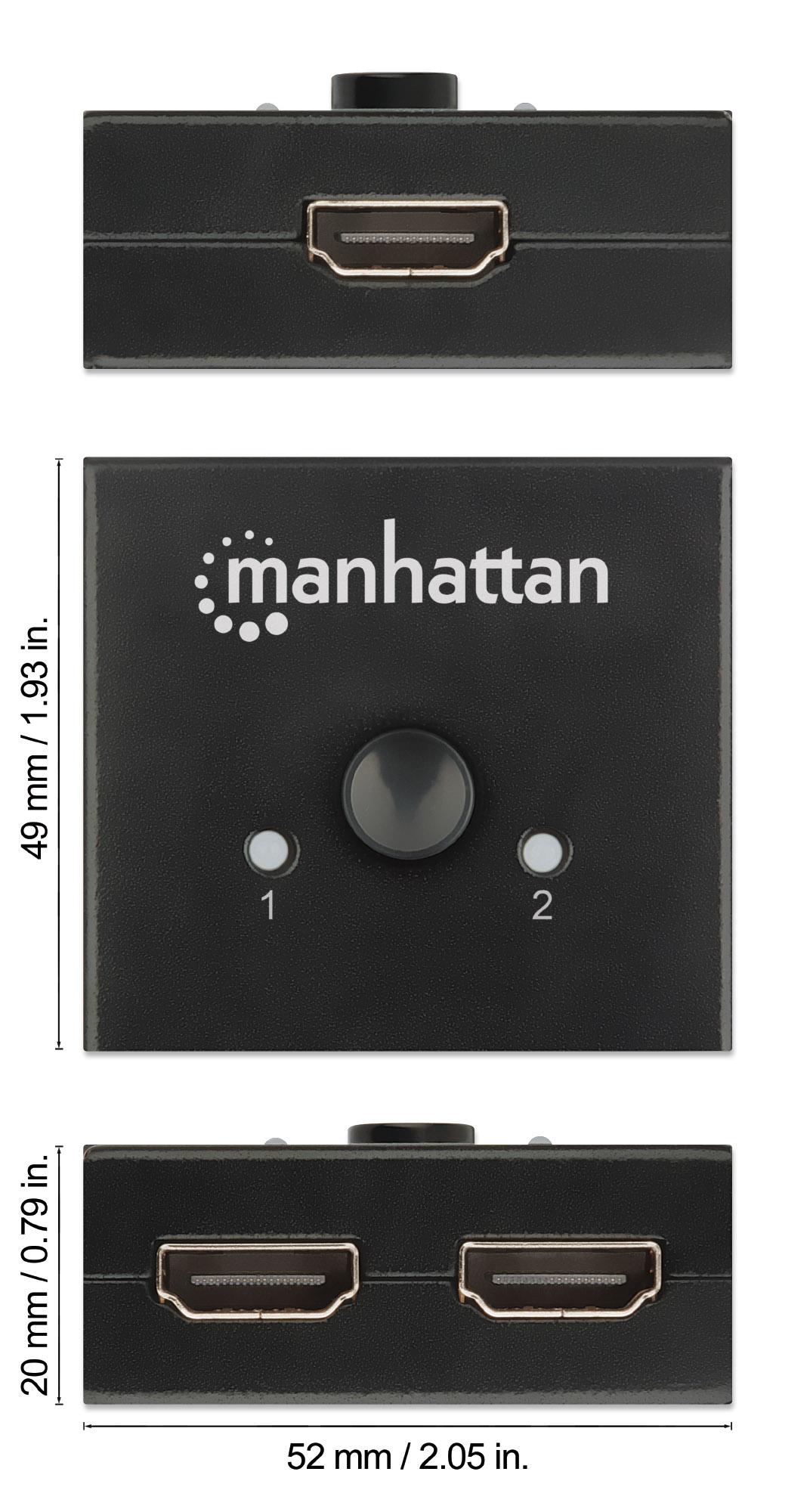 4K Bi-Directional 2-Port HDMI Splitter/Switch