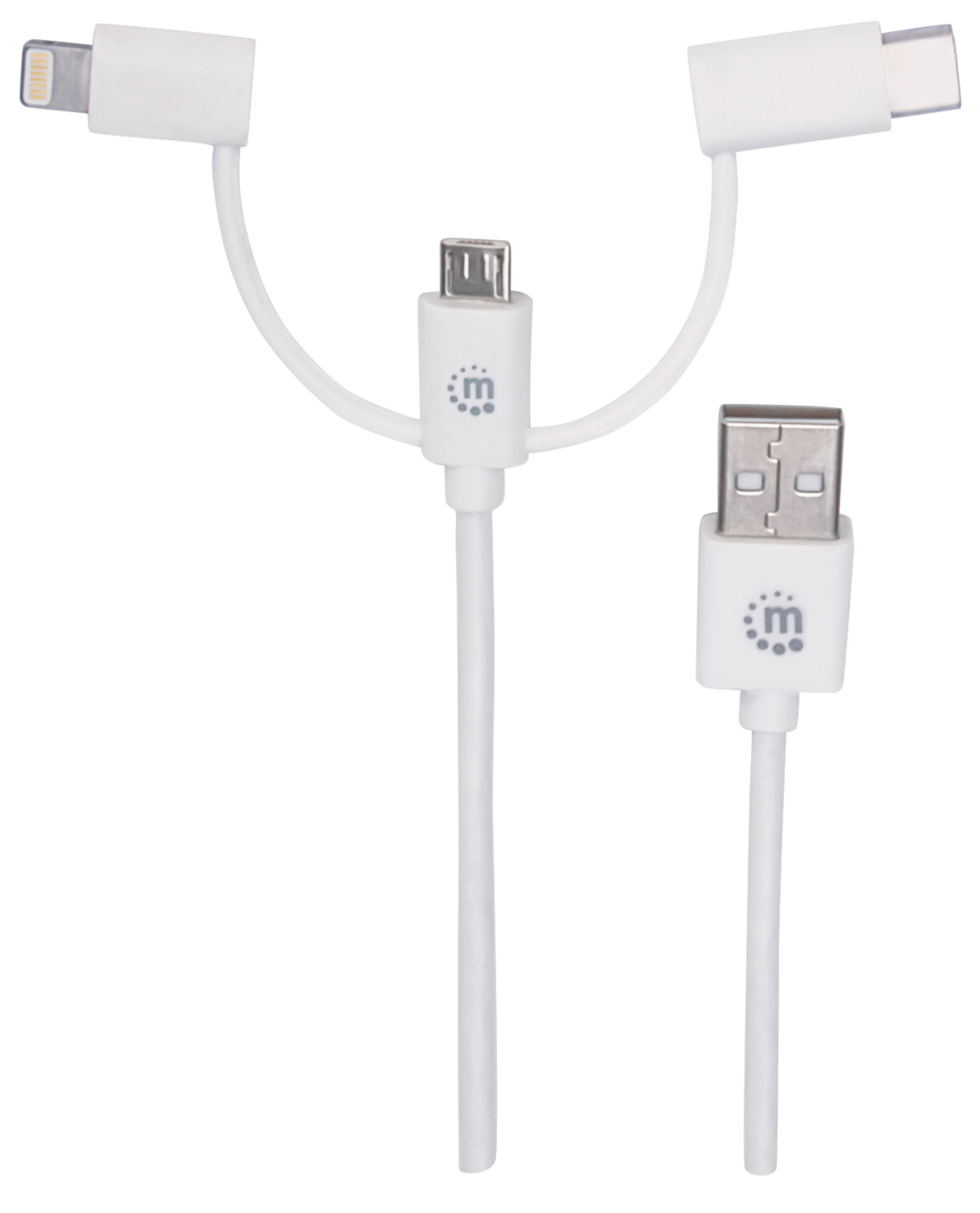 3-in-1 Charge & Sync USB-A to Lightning®/USB-C/Micro-USB Cable