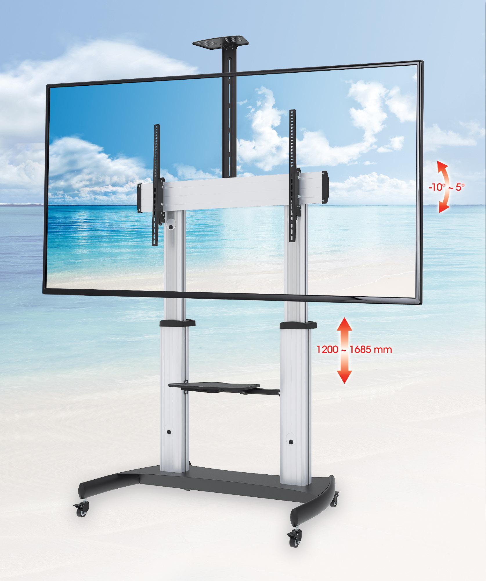 Heavy-Duty Premium Multimedia TV Cart
