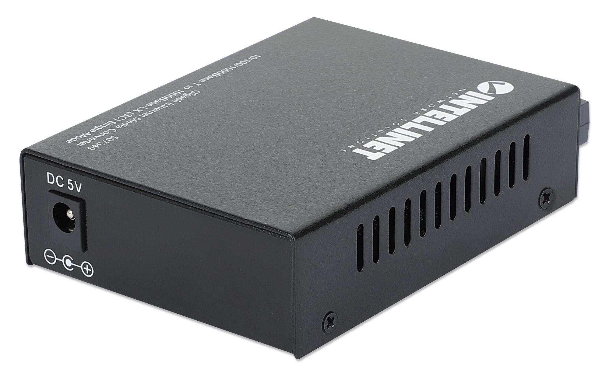 Gigabit Ethernet Single-Mode Media Converter
