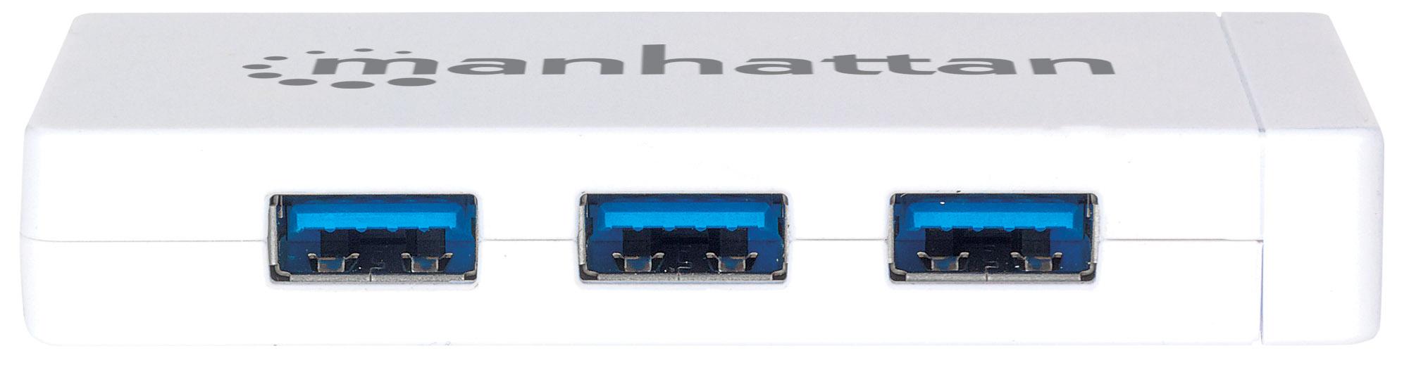3-Port USB 3.0 Hub with Gigabit Ethernet Adapter