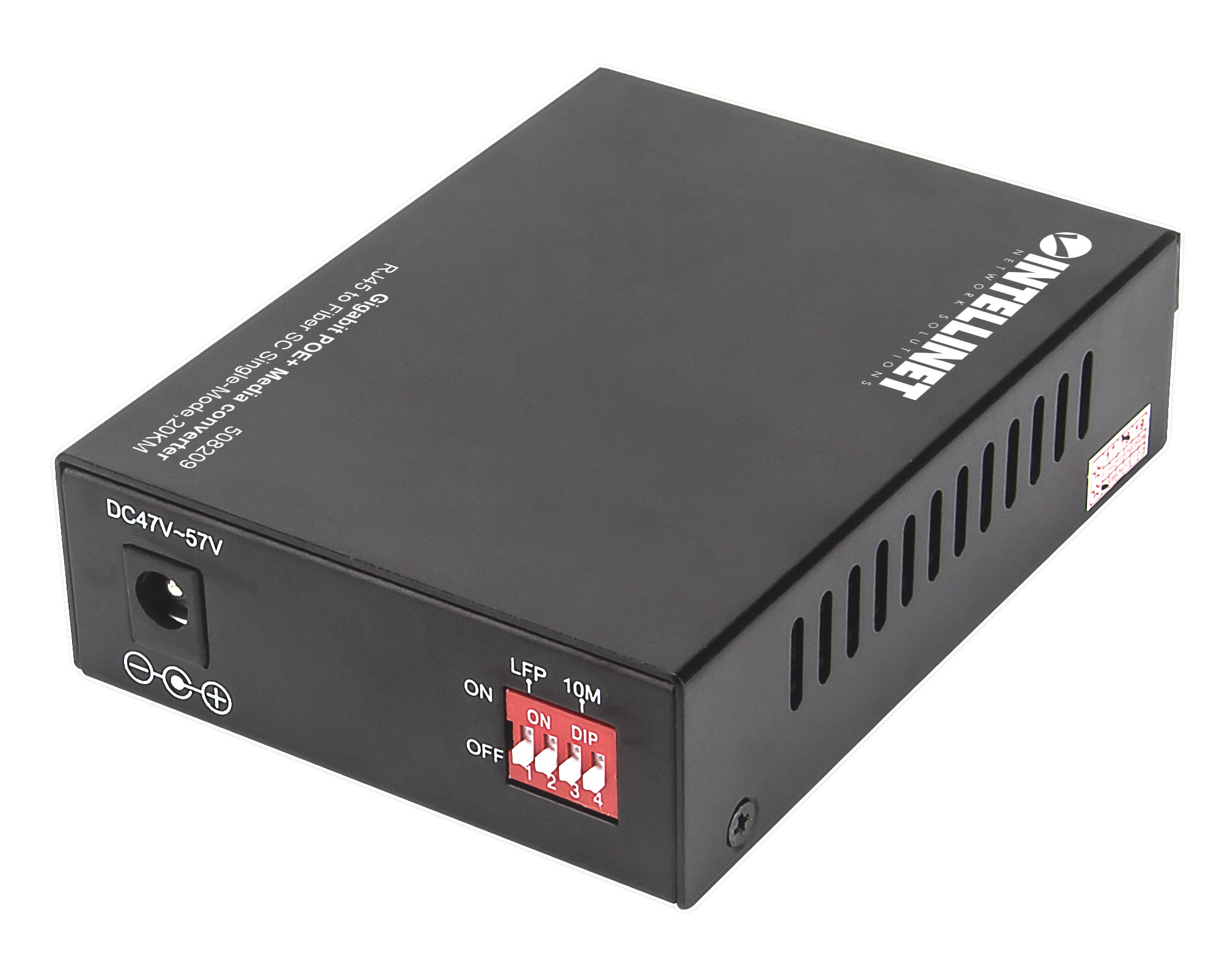 Gigabit PoE+ Media Converter