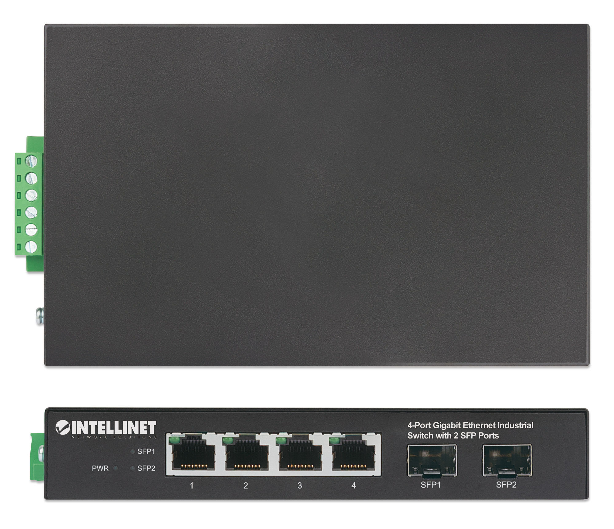 4-Port Gigabit Ethernet Industrial Switch with 2 SFP Ports