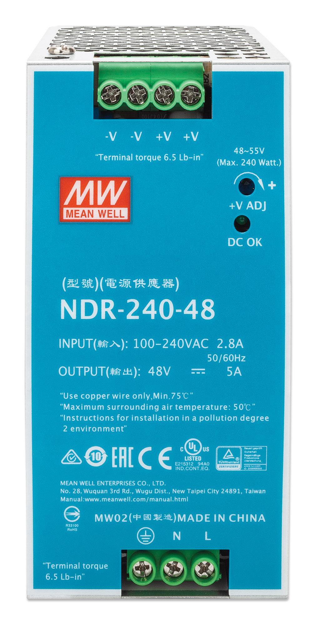 Industrial DIN-Rail Mount Power Supply Unit (PSU) 240 W