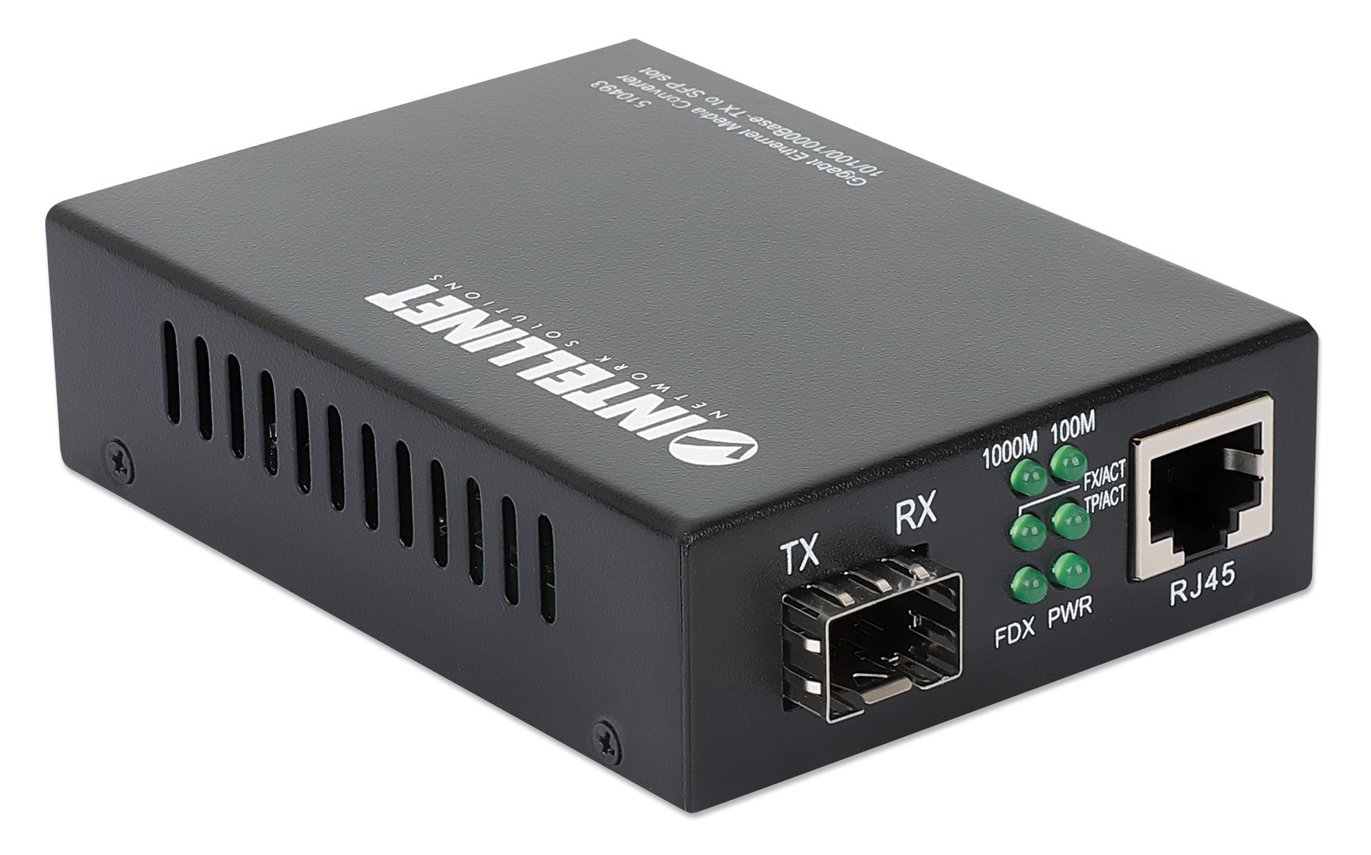 Gigabit Ethernet to SFP Media Converter