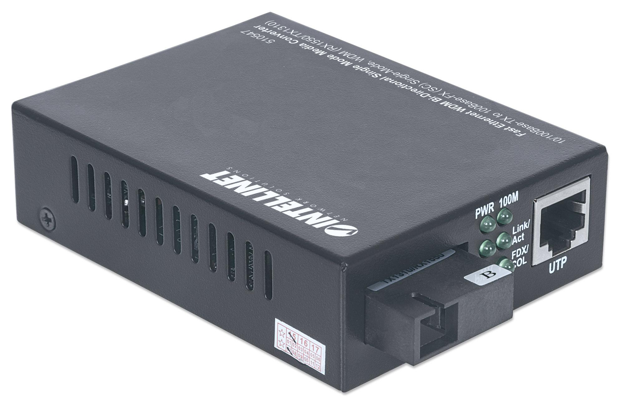 Fast Ethernet WDM Bi-Directional Single Mode Media Converter