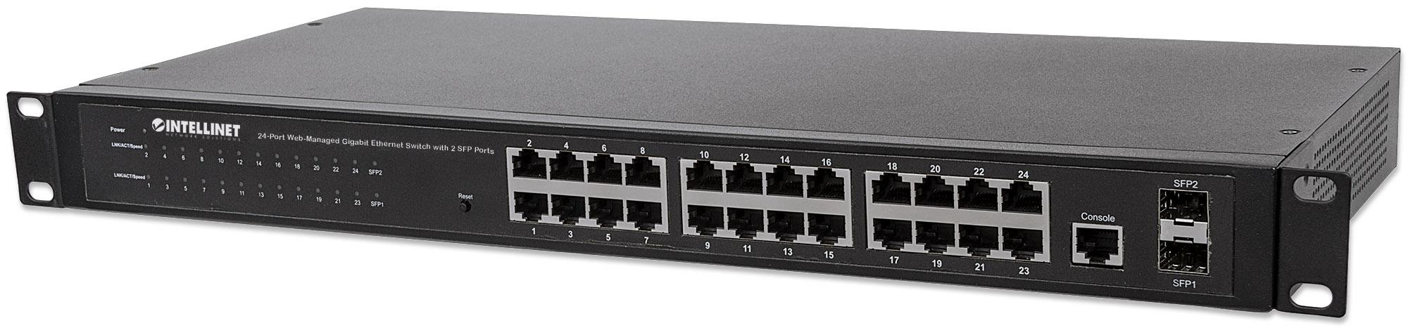 24-Port Web-Managed Gigabit Ethernet Switch with 2 SFP Ports