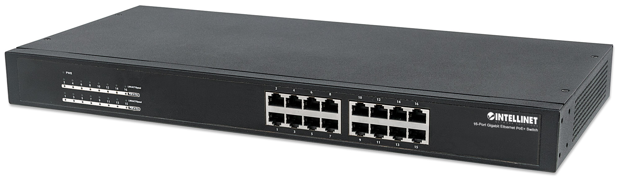 16-Port Gigabit Ethernet PoE+ Switch