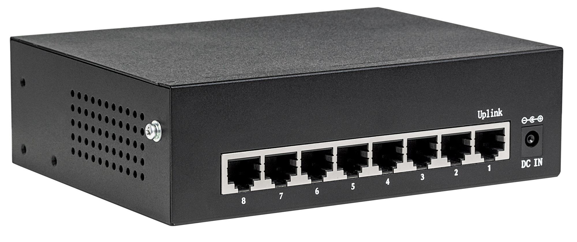 8-Port Gigabit Ethernet PoE+ Switch