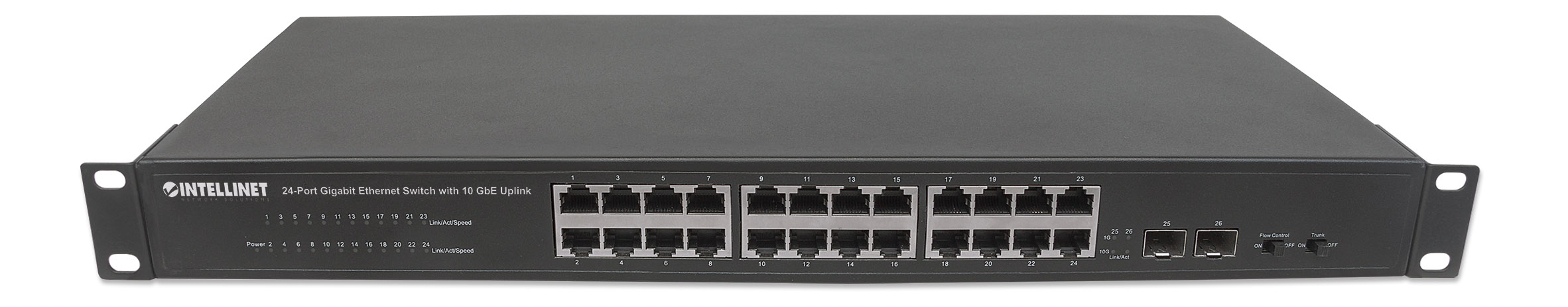 24-Port Gigabit Ethernet Switch with 10 GbE Uplink