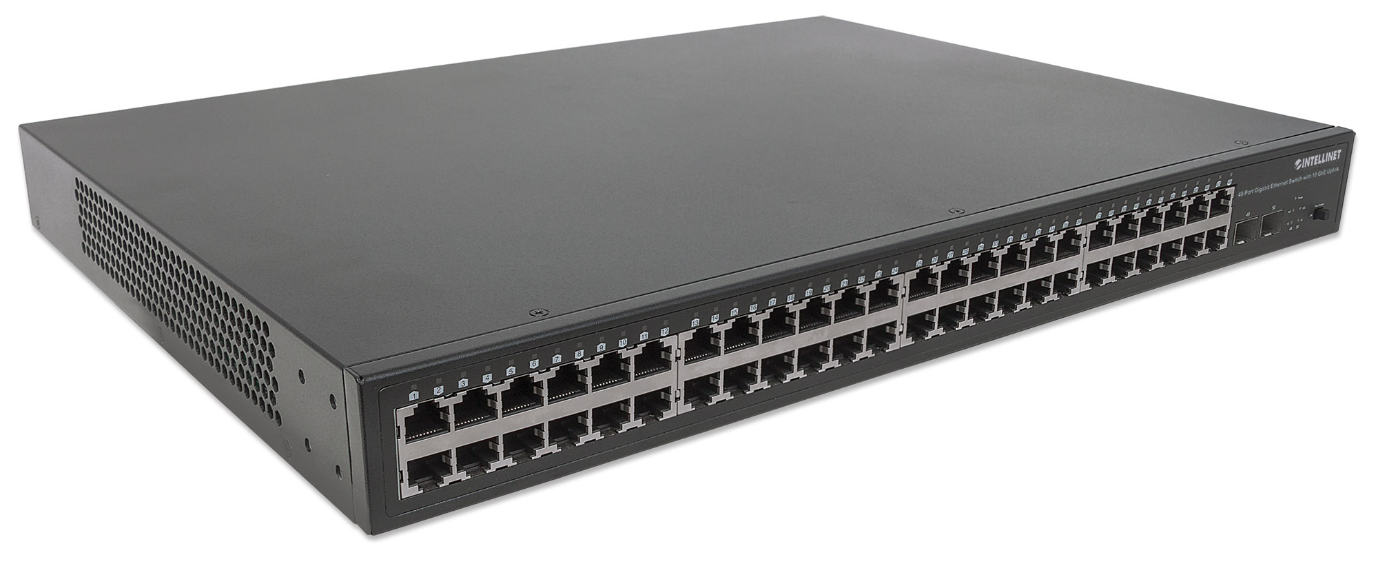 48-Port Gigabit Ethernet Switch with 10 GbE Uplink